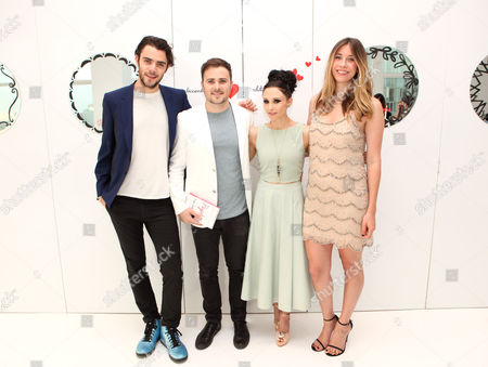 Tanner Cohen, David Oliver Cohen, Stacey Bendet and Lara Marie Schoenhals seen at the 'Psychos' by Babe Walker Book Party at Alice and Olivia, in New York, New York