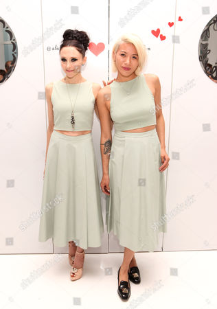 """Stock Photo of Stacey Bendet and May Kwok seen at the """"Psychos"""" by Babe Walker Book Party at Alice and Olivia, in New York, New York"""