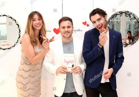 Lara Marie Schoenhals, David Oliver Cohen and Tanner Cohen seen at the 'Psychos' by Babe Walker Book Party at Alice and Olivia, in New York, New York