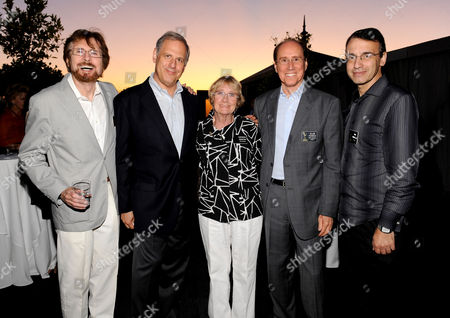 AUGUST 23: (L-R) Governors' Appointee John Moffitt, Treasurer Kevin Hamburger, Performers Representative, Kathryn Joosten, Academy COO Alan Perris and Sound Representative Frank Morrone attend the Academy of Television Arts & Sciences' 'Professional Representatives & Television Executives Peer Group Celebration' at the SLS Hotel on in Los Angeles, California
