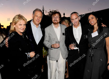 AUGUST 23: (L-R) Professional Representatives Beth Bohn, Treasurer Kevin Hamburger, Directors Representative John Moffitt and Professional Representatives Chris Newman and Allison Binder attend the Academy of Television Arts & Sciences' 'Professional Representatives & Television Executives Peer Group Celebration' at the SLS Hotel on in Los Angeles, California