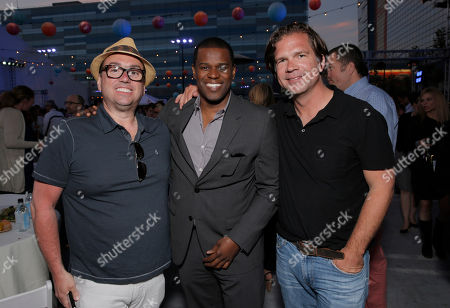 Peter Principato, Brian Dobbins and Paul Young attend the premiere of Fox Searchlight Pictures' 'The Way, Way Back' after party at L.A. Live Event Deck on in Los Angeles