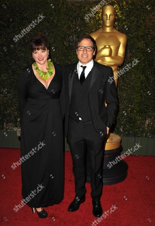 Janet Grillo and David O. Russell seen on the red carpet at the 2013 Board of Governors of the Academy of Motion Pictures Arts and Sciences' Governor Awards, on in Los Angeles