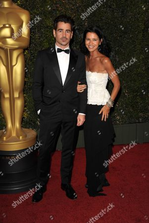 Colin Farrell and Claudine Farrell seen on the red carpet at the 2013 Board of Governors of the Academy of Motion Picture Arts and Sciences' Governor Awards, on in Los Angeles