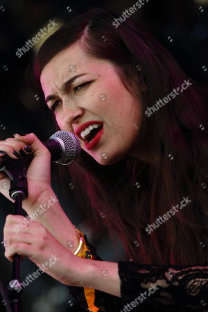 Madeline Follin of Cults performs on day 2 of the 2013 Voodoo Music + Arts Experience at City Park on in New Orleans Louisiana