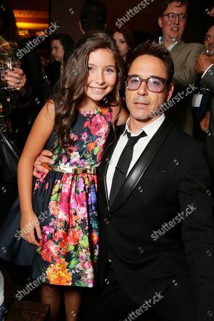 """Emma Tremblay and Robert Downey Jr. seen at Warner Bros.' """"The Judge"""" Gala Presentation at 2014 TIFF, in Toronto"""
