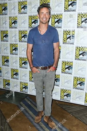 "Tom Cavanagh attends the ""Flash"" press line on day 3 of Comic-Con International, in San Diego"