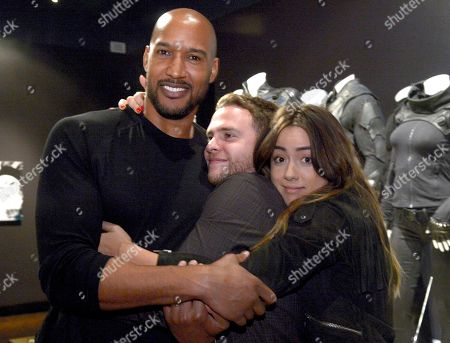 Henry Simmons, from left, Iain De Caestecker and Chloe Bennet seen at The 9th Annual Outstanding Art of Television Costume Design Exhibition opening at the FIDM Museum & Galleries on the Park, in Los Angeles. The Television Academy and FIDM Museum honored this year's Emmy(R) Award winners in Outstanding Costume Design at the opening reception for this annual special exhibition