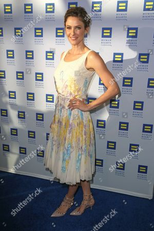 Jill Wagner arrives at the 2015 Human Rights Campaign Gala Dinner at the JW Marriott LA Live on in Los Angeles