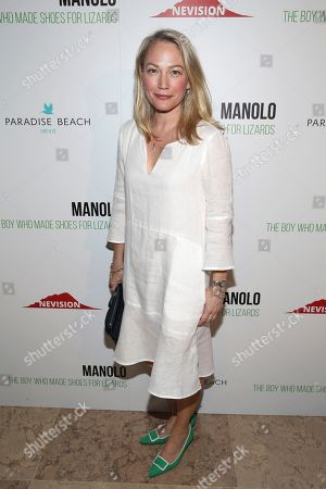 """Actress Sarah Wynter attends the world premiere of """"Manolo: The Boy Who Made Shoes For Lizards,"""" hosted by Manolo Blahnik and The Cinema Society, at The Frick Collection, in New York"""