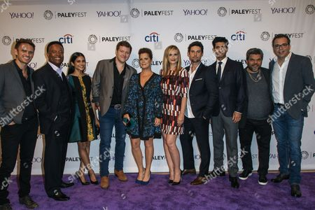 From left, Ryan McGarry, William Allen Young, Melanie Chandra, Harry M. Ford, Marcia Gay Harden, Bonnie Somerville, Benjamin Hollingsworth, Raza Jaffrey, Luis Guzmán, and Michael Seitzman attend the at 2015 PaleyFest Fall TV Previews at The Paley Center for Media, in Beverly Hills, Calif