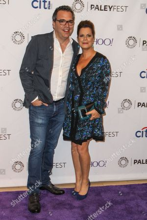 Michael Seitzman, left, and Marcia Gay Harden attend the at 2015 PaleyFest Fall TV Previews at The Paley Center for Media, in Beverly Hills, Calif