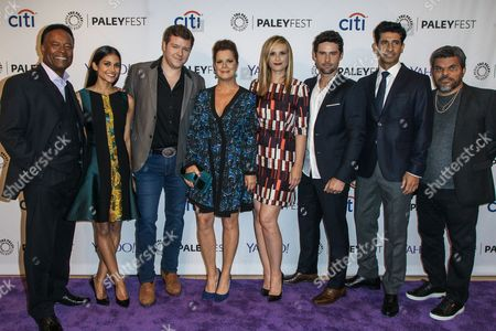 From left, William Allen Young, Melanie Chandra, Harry M. Ford, Marcia Gay Harden, Bonnie Somerville, Benjamin Hollingsworth, Raza Jaffrey, and Luis Guzmán attend the at 2015 PaleyFest Fall TV Previews at The Paley Center for Media, in Beverly Hills, Calif