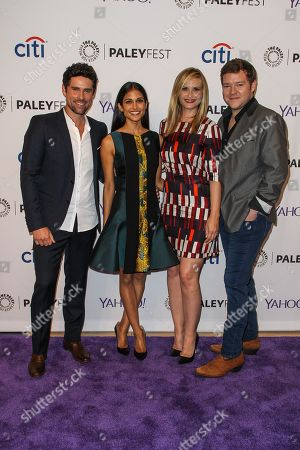 From left, Benjamin Hollingsworth, Melanie Chandra, Bonnie Somerville, and Harry M. Ford attend the at 2015 PaleyFest Fall TV Previews at The Paley Center for Media, in Beverly Hills, Calif