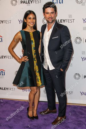 Melanie Chandra, left, and Benjamin Hollingsworth attend the at 2015 PaleyFest Fall TV Previews at The Paley Center for Media, in Beverly Hills, Calif