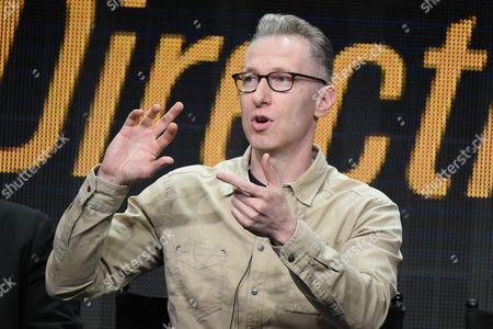"""Stock Image of Director Michael Blieden participates in the """"Directing Funnyâ?? panel at the Directors Guild of America Summer TCA Tour held at the Beverly Hilton Hotel, in Beverly Hills, Calif"""
