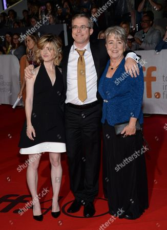 """Writer Andy Weir with sister and mother attend the premiere for """"The Martian"""" on day 2 of the Toronto International Film Festival at Roy Thomson Hall, in Toronto"""
