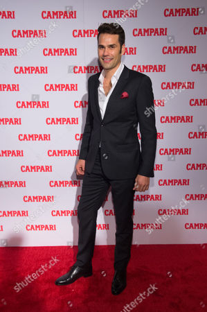 Stock Image of Singer Chris Norton attends the 2016 Campari Calendar unveiling celebration at the Standard Hotel, in New York