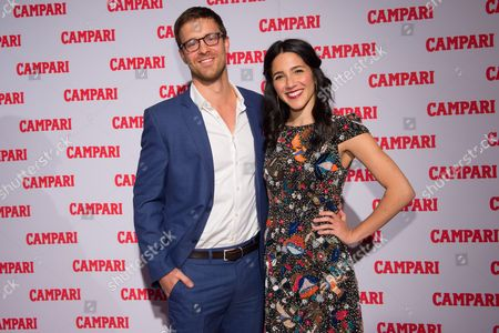 Stock Picture of Actors Sean Kleier, left, and Samantha Massell attend the 2016 Campari Calendar unveiling celebration at the Standard Hotel, in New York