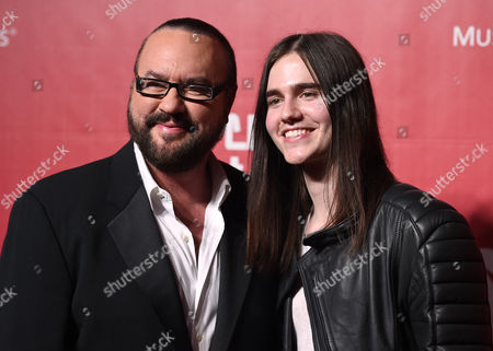 Desmond Child, left, and Anthony De La Torre arrive at the MusiCares Person of the Year tribute honoring Lionel Richie at the Los Angeles Convention Center on