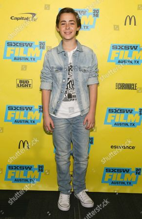 Anton Starkman is seen at the world premiere of 'Shovel Buddies' at the Topfer Theatre during the South by Southwest Film Festival, in Austin, Texas