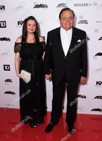 Dee Dee Benkie, left, and Paul Sorvino arrive at the 2nd Annual AMBI Gala at The Ritz-Carlton Hotel, in Toronto