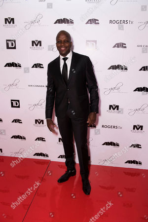 Stock Image of Donovan Bailey arrives at the 2nd Annual AMBI Gala at The Ritz-Carlton Hotel, in Toronto