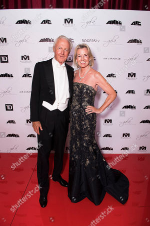 Stock Picture of Galen Weston, left, and Hilary Weston arrive at the 2nd Annual AMBI Gala at The Ritz-Carlton Hotel, in Toronto