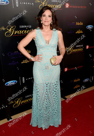 Erica Hill arrives at the 40th Anniversary Gracies Awards at the Beverly Hilton Hotel, in Beverly Hills, Calif. The event supports the AWMF's many educational programs, charitable activities, public service and scholarship campaigns that benefit women in media