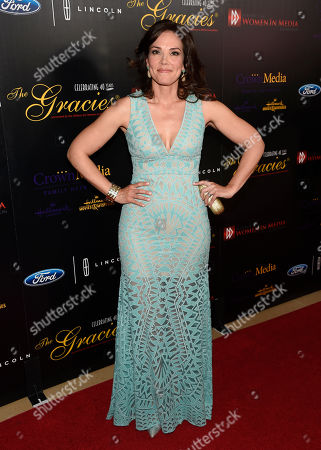 Erica Hill arrives at the 40th Anniversary Gracies Awards at the Beverly Hilton Hotel, in Beverly Hills, Calif