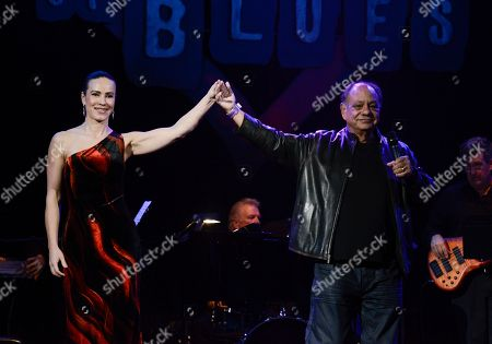 Actor Cheech Marin, right, and his wife Natasha Rubin perform at The Thalians Gala benefiting Operation Mend at U.C.L.A. and honoring singer Smokey Robinson at the House of Blues on in West Hollywood, Calif