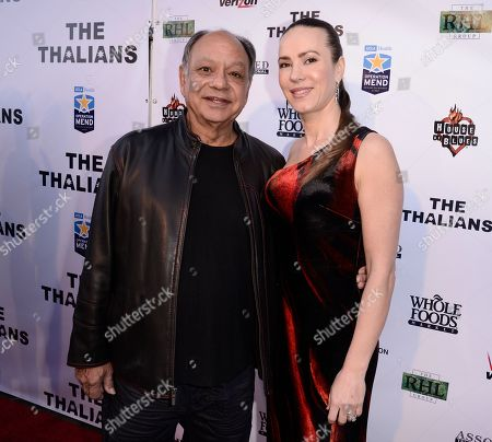 Actor Cheech Marin, left, and his wife Natasha Rubin attend The Thalians Gala benefiting Operation Mend at U.C.L.A. and honoring singer Smokey Robinson at the House of Blues on in West Hollywood, Calif