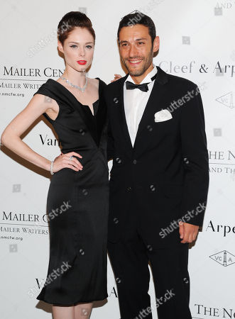 Model Coca Rocha and Van Cleef & Arpels president and CEO Alain Bernard attend the 5th annual Norman Mailer Center benefit gala at The New York Public Library on in New York