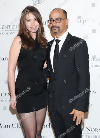 Mailer Prize for Distinguished Writing recipient Junot Diaz and girlfriend Marjorie Liu attend the 5th annual Norman Mailer Center benefit gala at The New York Public Library on in New York