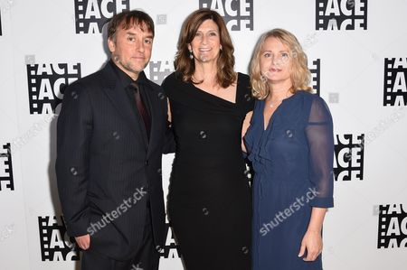 Richard Linklater, left, Sandra Adair and Cathleen Sutherland attend the 65th Annual ACE Eddie Awards at the Beverly Hilton Hotel, in Beverly Hills, Calif