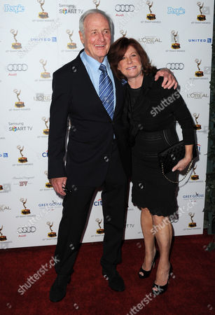 From left, Jerry Weintraub and Susan Ekins arrive at the 65th Primetime Emmy Awards Performers Nominee Reception, on at Spectra by Wolfgang Puck at the Pacific Design Center, in West Hollywood, Calif