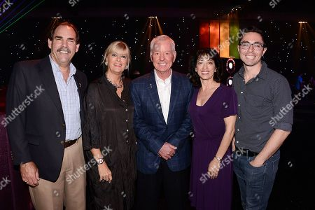 From left to right, Television Academy Governors Ball Committee members Edward Fassl, Barbara Cassel, Russ Patrick, Geriann McIntosh, and James Pearse Connelly at the Television Academy's 66th Primetime Emmy Awards Press Preview Day and Red Carpet Rollout at Nokia Theater L.A. LIVE on in Los Angeles