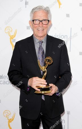 Fritz Coleman, winner of the Education Emmy for 'El Nino: Currents of Change' poses for a portrait at the L.A. Area Emmy Awards presented at the Television Academy's new Saban Media Center, in the NoHo Arts District in Los Angeles