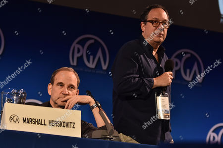 Mark Gordon and Marshall Herskovitz hear pitches at the 7th Annual Produced By Conference presented by Producers Guild of America at Paramount Pictures Studios on in Los Angeles