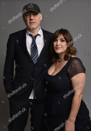 Gregg Alexander, left, and Danielle Brisebois pose for a portrait during the 87th Academy Awards nominees luncheon at the Beverly Hilton Hotel, in Beverly Hills, Calif