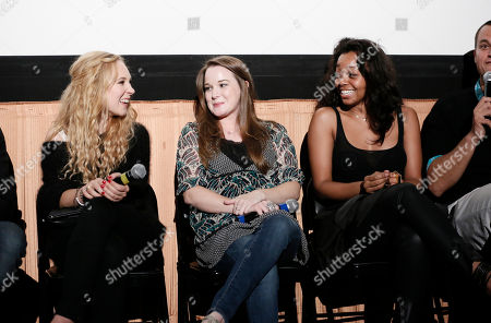 """Juno Temple, Kay Panabaker and Lauren Pennington attend a screening of """"Little Birds"""" presented by Ben Lyons and Hello Giggles at the Grove on in Los Angeles"""