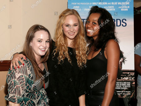 """Kay Panabaker, Juno Temple and Lauren Pennington attend a screening of """"Little Birds"""" presented by Ben Lyons and Hello Giggles at the Grove on in Los Angeles"""