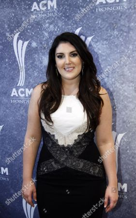 Kree Harrison arrives at the ACM Honors at the Ryman Auditorium on in Nashville, Tenn