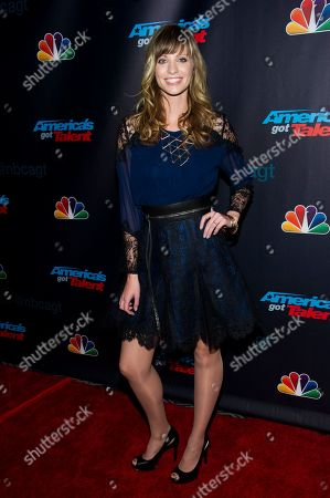 "Singer Cami Bradley walks the pre-show red carpet for ""America's Got Talent"" on in New York"