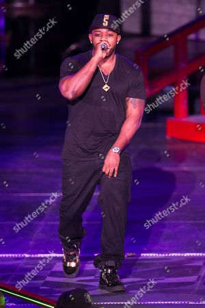 Mack Maine (AKA Jermaine Preyan) performs as a part of the America's Most Wanted Tour at the Verizon Wireless Amphitheater on in Irvine, Calif