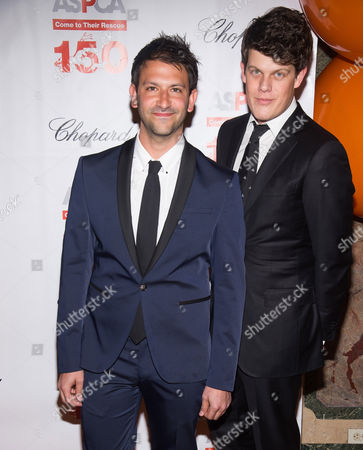 Paul Arnhold, left, and Wes Gordon attend ASPCA's 19th annual Bergh Ball honoring Drew Barrymore at The Plaza Hotel, in New York