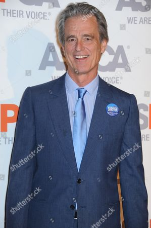 Bobby Shriver arrives at ASPCA Cocktail Event honoring Kaley Cuoco - Sweeting and Nikki Reed at a Bel Air private residence, in Los Angeles