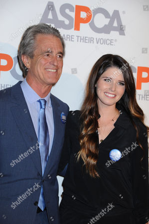 Bobby Shriver, at left, and Katherine Schwartzenegger arrive at ASPCA Cocktail Event honoring Kaley Cuoco - Sweeting and Nikki Reed at a Bel Air private residence, in Los Angeles
