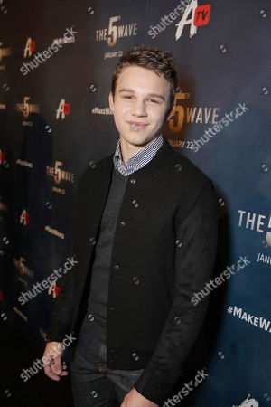 Gavin MacIntosh seen at AwesomenessTV special fan screening of Columbia Pictures 'The 5th Wave' at Pacific Theatres at the Grove, in Los Angeles, CA
