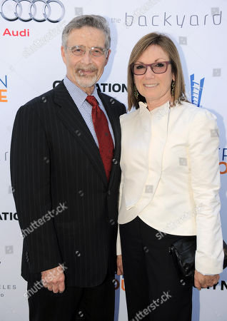 Barry Meyer, chairman of Warner Bros., left, and Wendy Meyer attend the Backstage at the Geffen gala donor dinner at the W Hotel, in Los Angeles